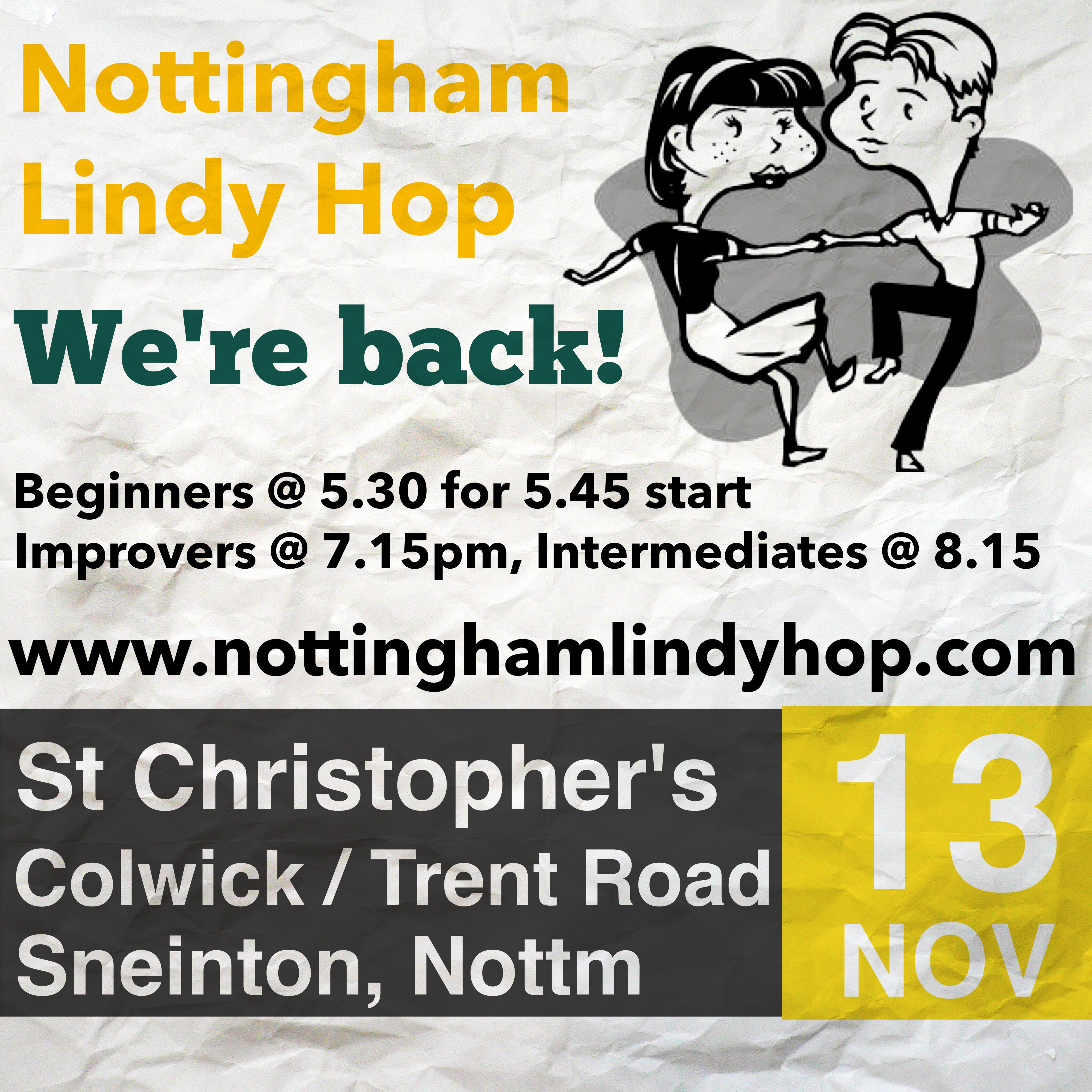 1de30718d305 We ll be starting Lindy Hop classes again at St Christopher s Church Hall  from Sun 13 November for 6 weeks till ...